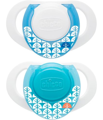 NaturalFit® Chicco Deco Shield Pacifier, Blue, 0+ Months, 2-pk Product image
