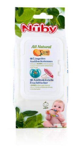 Lingettes Nûby Citroganix pour suce et jouet de dentition, 48pces Image de l'article
