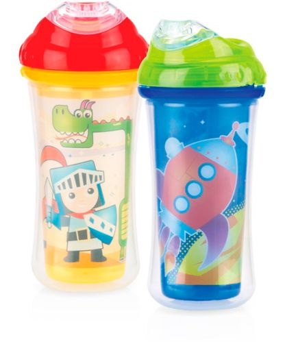 Nuby Clik-It Insulated No-Spill Cool Sipper, 18+ Months, 9-oz, 2-pk Product image