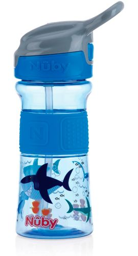 Nuby No-Spill Flip-It Reflex Sippy Cup with Soft Grip, 12-oz Product image