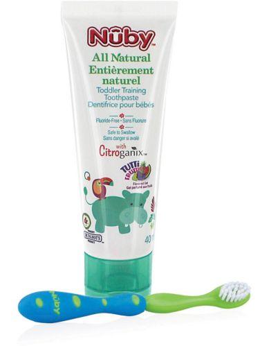 Dentifrice pour tout-petits Nûby Citroganix avec brosse à dents Image de l'article