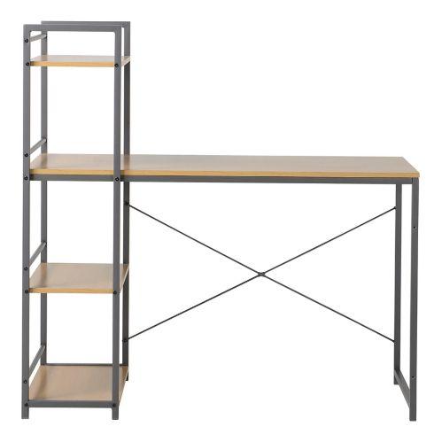 Bureau avec 4 étagères intégrées Homestar, bois naturel Image de l'article