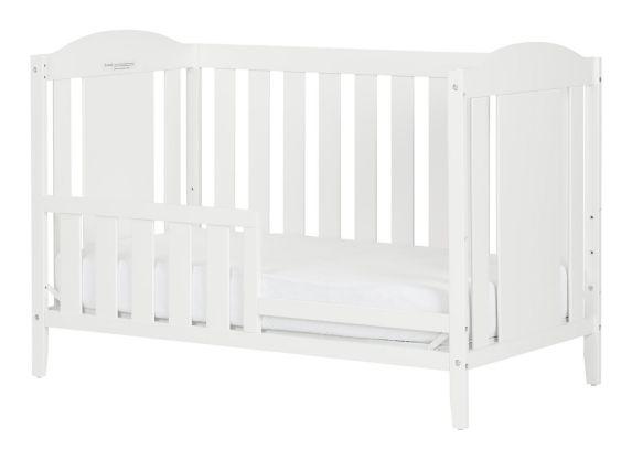 Lit de bébé South Shore Reevo avec barrière, blanc pur Image de l'article