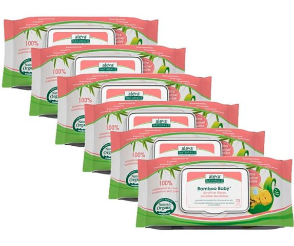 Aleva Naturals Bamboo Baby Sensitive Wipes Product image
