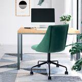 39F Velvet Office Chair, Green | Vendor Brandnull