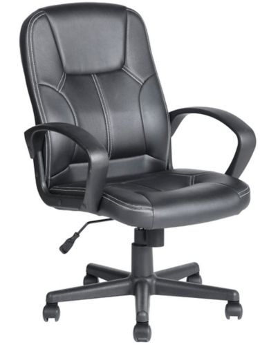 39F Valencia Faux Leather Office Chair, Black Product image