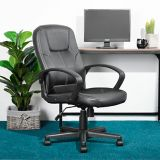 39F Valencia Faux Leather Office Chair, Black | Vendor Brandnull