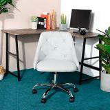 Siège de bureau 39F Hamilton, similicuir, blanc | Vendor Brandnull
