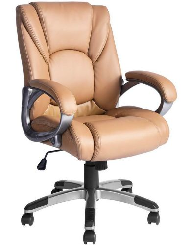 39F Jamian Faux Leather Office Chair, Brown Product image