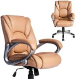 39F Jamian Faux Leather Office Chair, Brown | Vendor Brandnull