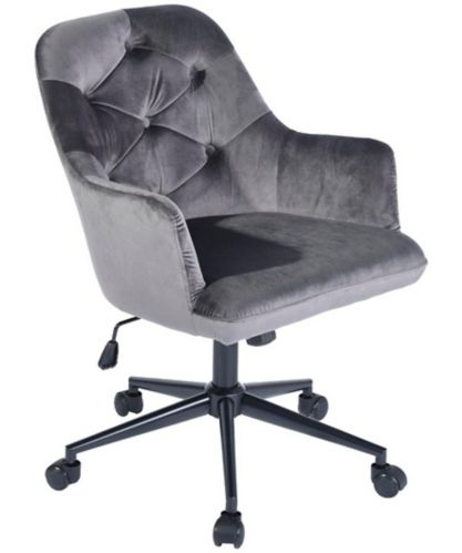 Siège de bureau 39F Elbert, velours, gris Image de l'article