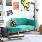 Dorel TeenB Euro Futon with Magazine Storage, Teal | Dorelnull