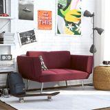 Dorel TeenB Euro Futon with Magazine Storage, Berry | Dorelnull