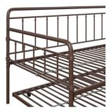 Dorel TeenB Metal Twin Daybed with Trundle, Bronze | Dorelnull