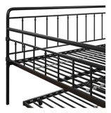 Dorel TeenB Metal Full Daybed with Trundle, Black | Dorelnull