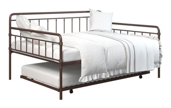 Dorel TeenB Metal Full Daybed with Trundle, Bronze Product image