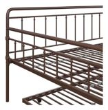 Dorel TeenB Metal Full Daybed with Trundle, Bronze | Dorelnull