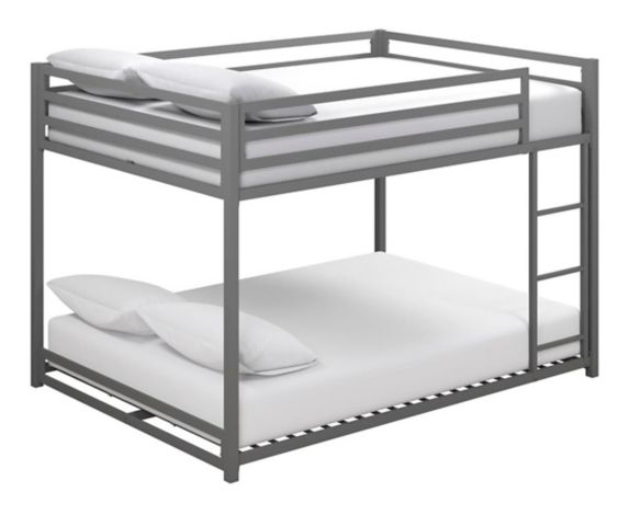 Dorel Kool Metal Full/Full Bunk Bed, Grey Product image