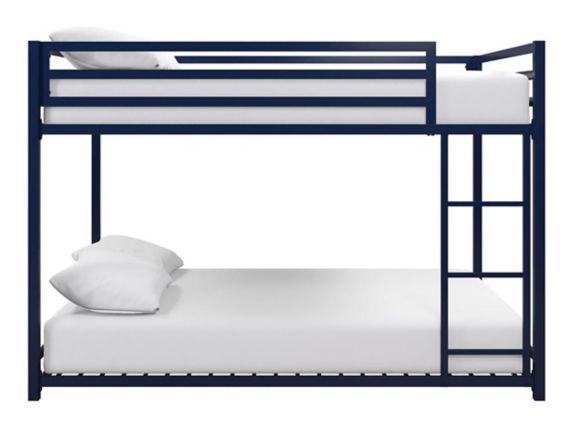 Dorel Kool Metal Full/Full Bunk Bed, Blue Product image