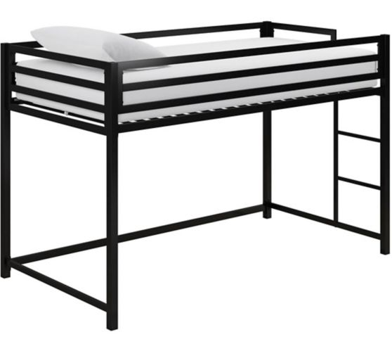 Dorel Kool Metal Junior Twin Loft Bed, Black Product image