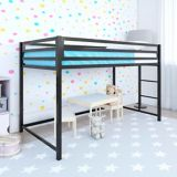 Dorel Kool Metal Junior Twin Loft Bed, Black | Dorelnull