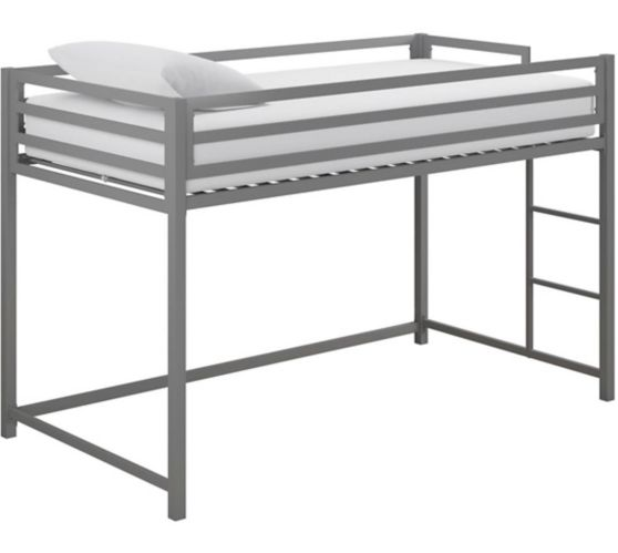 Dorel Kool Metal Junior Twin Loft Bed, Silver Product image