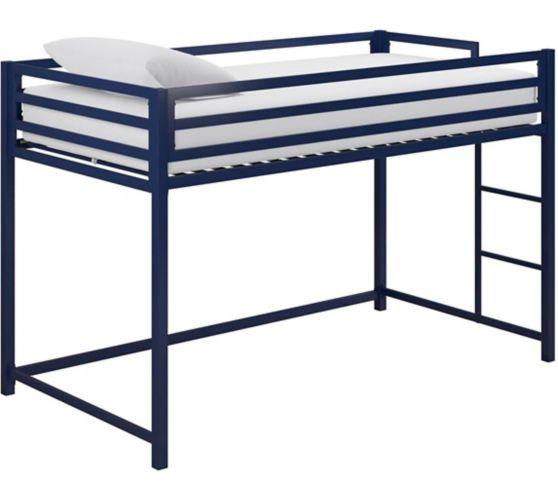 Lit mezzanine junior en métal Dorel Kool, 1 place, bleu Image de l'article