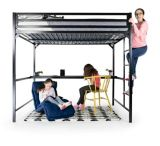 Dorel Kool Metal Twin Loft Bed with Desk, Blue | Dorelnull