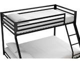 Dorel Kool Metal Twin/Full Bunk Bed, Black | Dorelnull