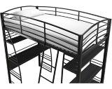 Lit mezzanine Dorel Kool, noir | Dorelnull