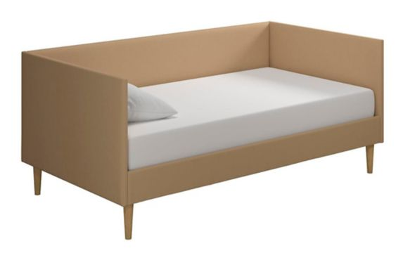 Dorel Clubhouse Mid Century Twin Daybed, Tan Linen Product image