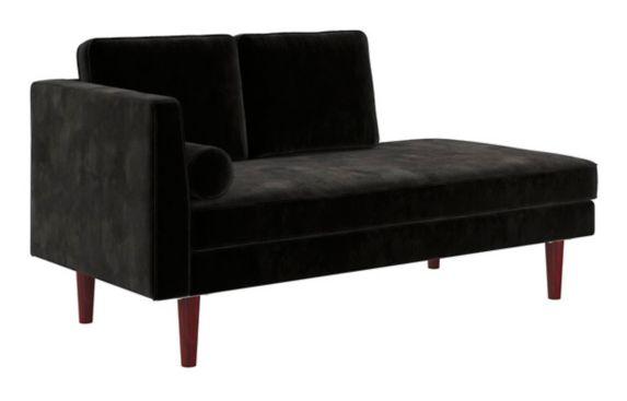 Lit de repos/fauteuil rembourré Dorel Clubhouse, moderne, noir Image de l'article