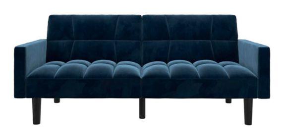 Canapé-lit Dorel Comfort avec accoudoirs, bleu Image de l'article