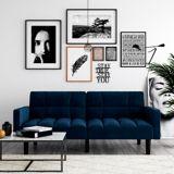 Canapé-lit Dorel Comfort avec accoudoirs, bleu | Dorelnull