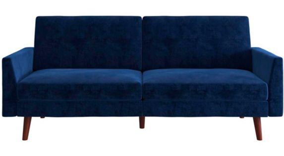 Futon à ressorts Dorel Comfort, bleu Image de l'article