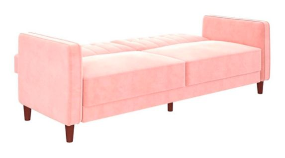 Dorel Comfort Tufted Transitional Futon, Pink Product image