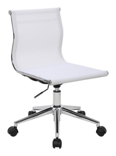 LumiSource Mirage Office Chair, Chrome/White Product image