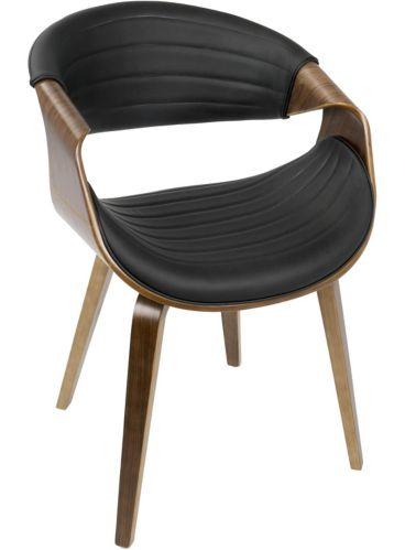 LumiSource Symphony Dining Chair, Walnut/Black Product image