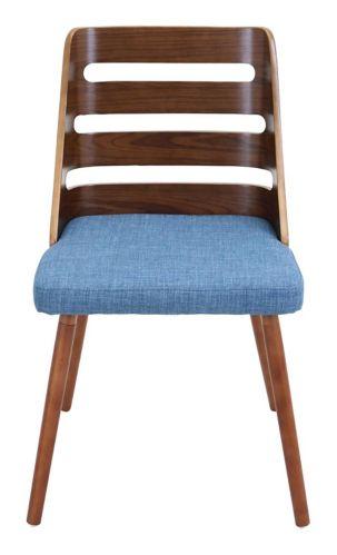 Chaise d'appoint rembourrée LumiSource Trevi, noyer/bleu Image de l'article
