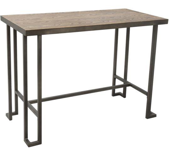 Table de comptoir LumiSource Roman, style industriel, antique/brun Image de l'article