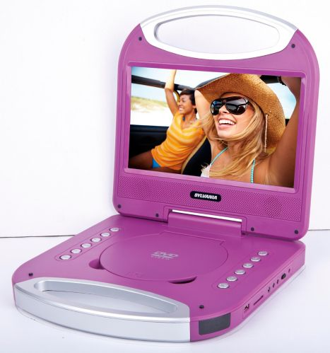 Sylvania Portable DVD Player with Integrated Handle, Purple, 10-in Product image