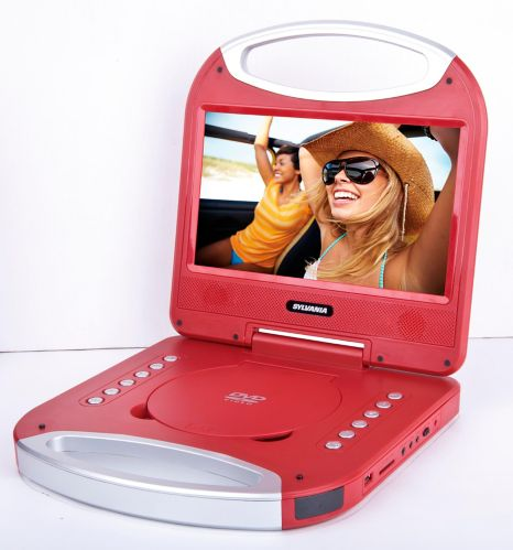 Sylvania Portable DVD Player with Integrated Handle, Red, 10-in Product image