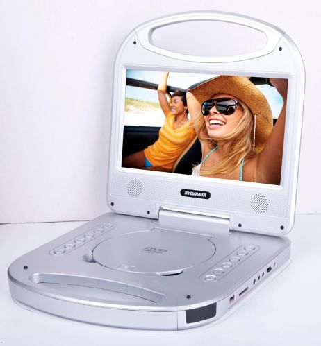 Sylvania Portable DVD Player with Integrated Handle, Silver, 10-in Product image