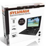 Lecteur DVD portatif Sylvania avec écran ACL pivotant, 13,3 po   Sylvanianull
