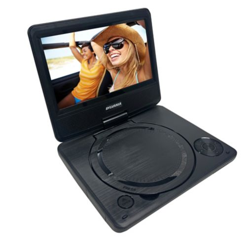 Sylvania Portable DVD with Swivel Screen & Headphones, Black, 7-in Product image