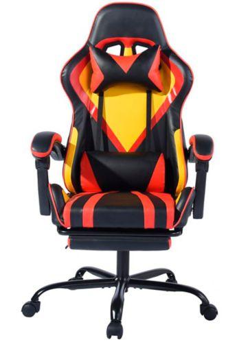 Fauteuil de jeu 39F Doragon. orange et noir Image de l'article