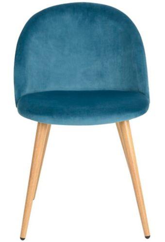 39F Zomba Velvet Diamond Dining Chair, Blue Product image