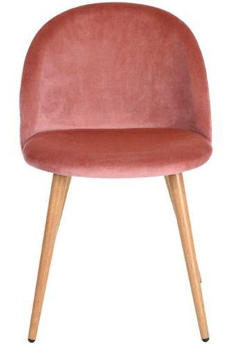 Chaise de salle à dîner en velours 39F Zomba Diamond, rose Image de l'article