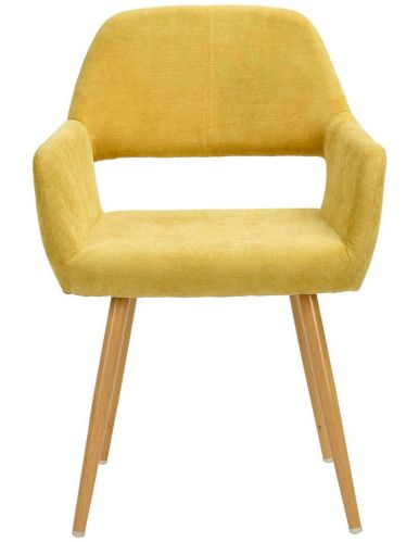Chaise de salle à manger rembourrée 39F Cromwell, jaune Image de l'article