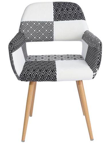 Chaise de salle à manger en patchwork 39F Cromwell, vert Image de l'article